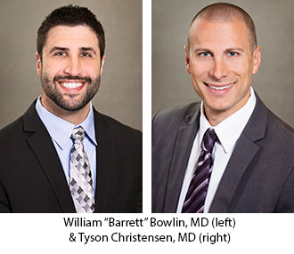 "Lake Tahoe Sports Medicine Fellows 2019-20: William ""Barrett"" Bowlin, MD and Tyson Christensen, MD"